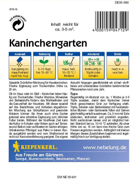 kaninchengarten kiepenkerl baumschule horstmann. Black Bedroom Furniture Sets. Home Design Ideas